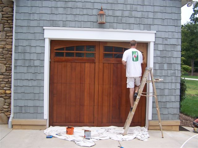 Garage Door Staining in Mount Holly, NC