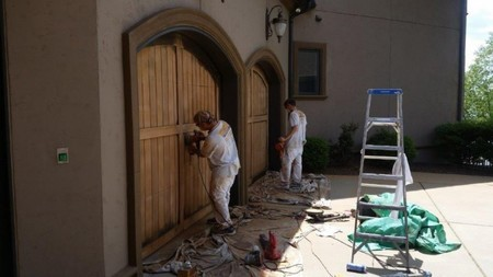 Staining / sanding doors