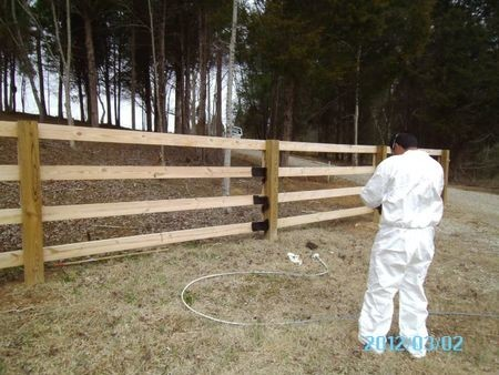 Before Fence Staining in Huntersville NC