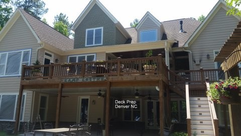 Deck Staining Preparation Denver, NC
