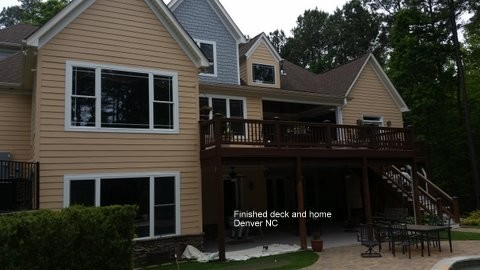 Finished Deck and Exterior Painting Denver, NC