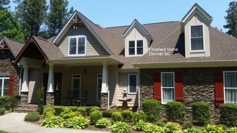Finished Exterior painting Denver, NC