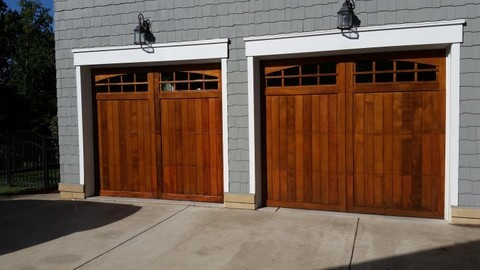 Garage Door Staining in Denver, NC