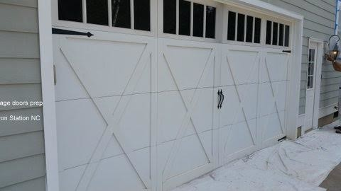 Exterior Painting of Garage Doors in Iron Station, NC