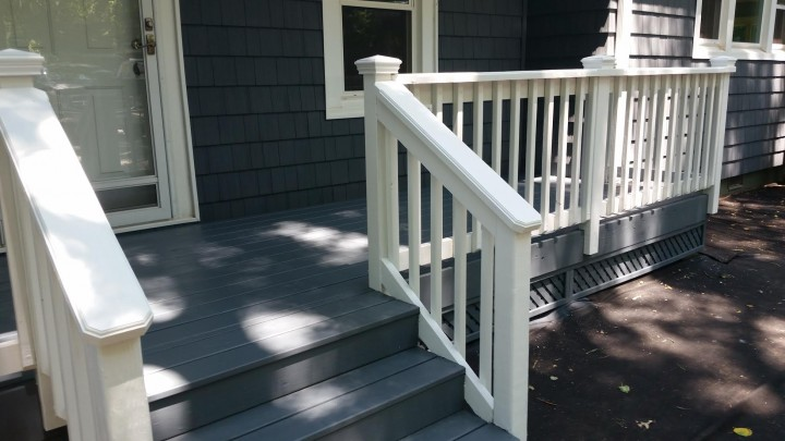 Two Tone Deck Painting in Denver, NC
