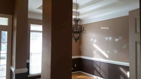 Before High Gloss Spray for Bookcase in Denver, NC