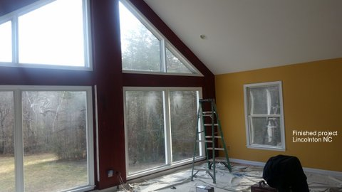 Prep work & Finished Interior Painting Project in Lincolnton, NC