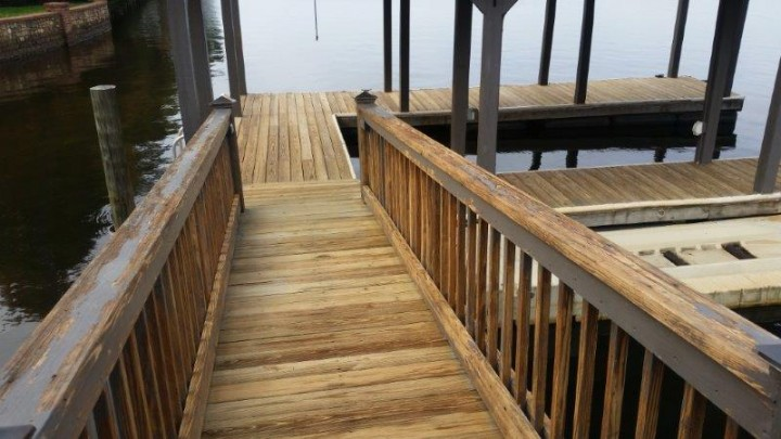 Before Deck Staining The Point in Mooresville, NC