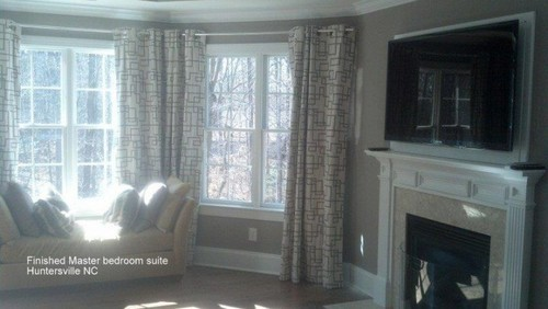 Finished Master Bedroom Suite in Huntersville, NC