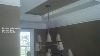 Finished walls & Trim Two Story Foyer in Huntersville, NC