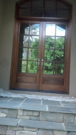 Front Doors Re-stain and Finish Denver NC